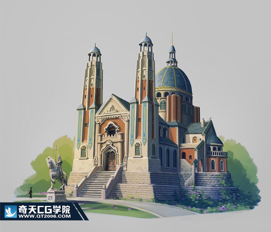 奇天CG学院,游戏场景,单体设计2-