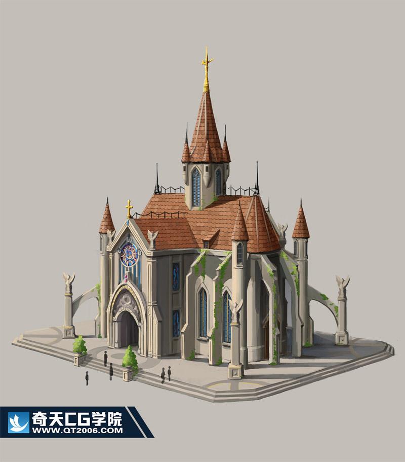 奇天CG学院,游戏场景,单体设计3-
