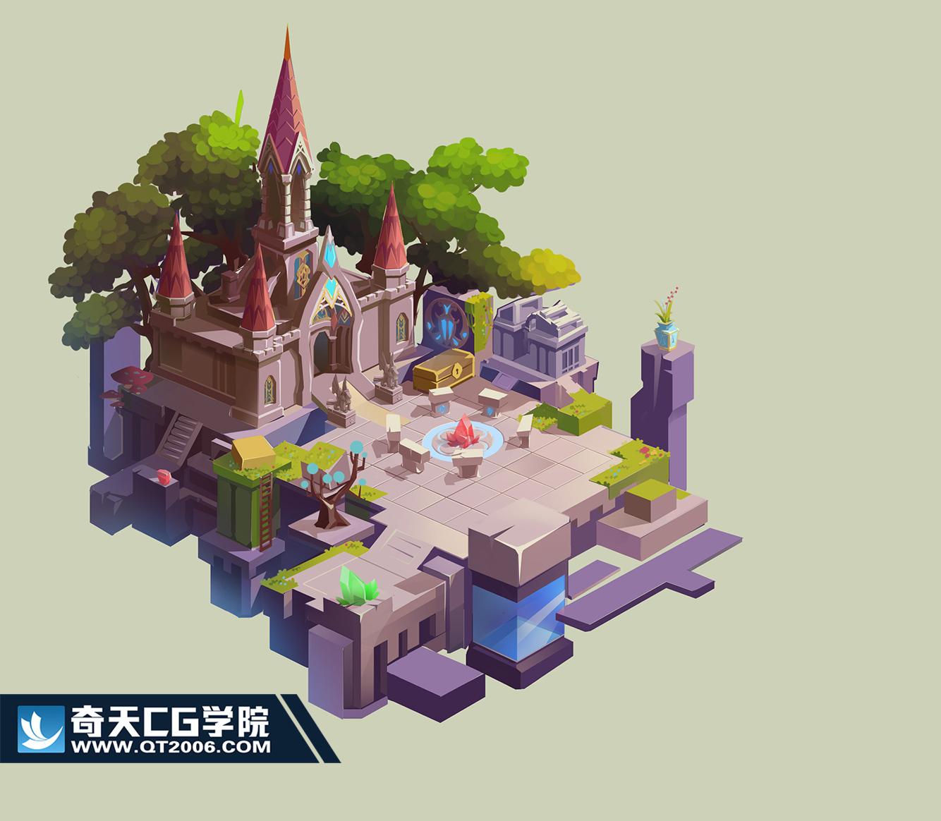 奇天CG学院,游戏场景,34214124