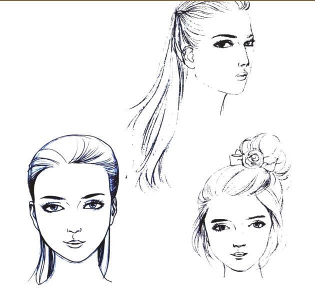 动漫女性人物结构绘画