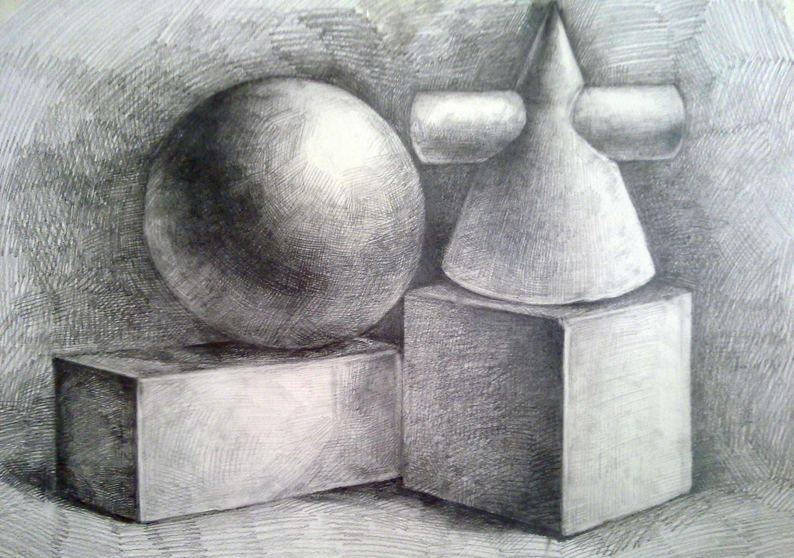 手绘形体与透视