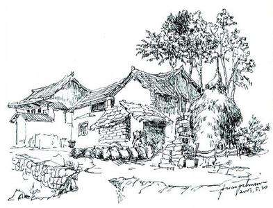 钢笔风景速写手绘技法