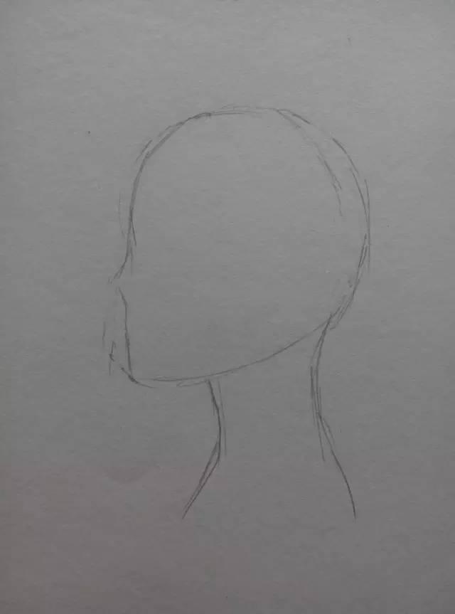 漫画教程|短发少女侧颜