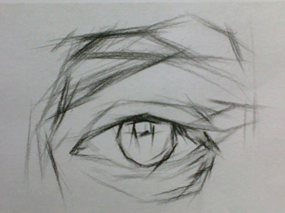 今天为大家带来了较为复杂一点的素描眼睛的画法,掌握人物五官的画法是素描中比较重要的部分,话不多说,赶快和一起来看一看素描眼睛的画法吧。   一、眼睛画法解析   眼睛是素描头像中表现五官立体的重要部位,眼睛大致由上眼睑、下眼睑、眼眶、眼球和泪阜组成。眼球呈现球体状,突出的外部由上眼睑和下眼睑所掩盖,眼睑呈现弧形,分为上下眼睑包裹着眼球,人眼看到的眼睛大致就是上下眼睑、眼球以及虹膜和瞳孔的部分,眼球内部的虹膜是一个颜色较深的透明体,黑色的瞳孔上通常会有亮光。    眼球要特别注重细节部分,上部有眼睑投下