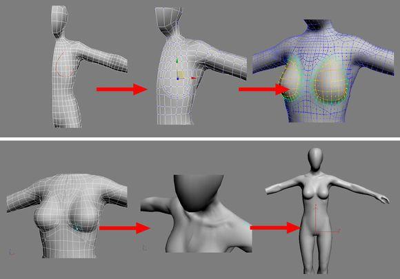 3dmax建模教程之女性角色模型(十九)