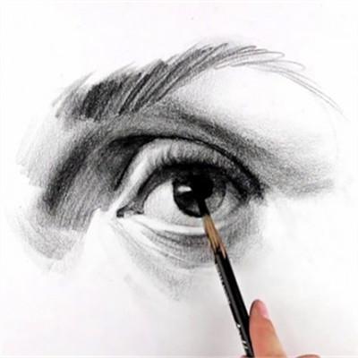素描眉毛与眼睛的画法