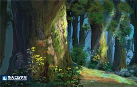 奇天CG学院,动漫原画,秘密森林