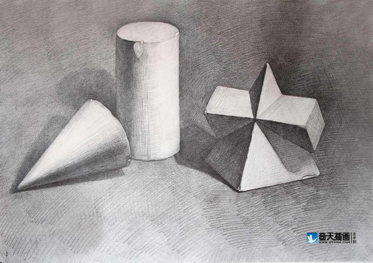 奇天cg学院,美术基础,几何体素描