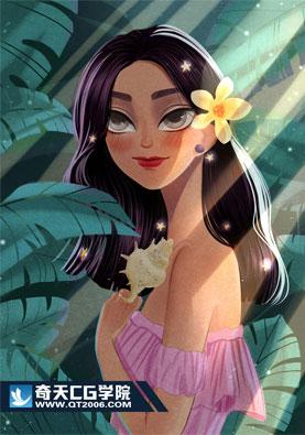 奇天CG学院,亚博在线娱乐_亚博体育下载_亚博体育下载appios,夏威夷少女