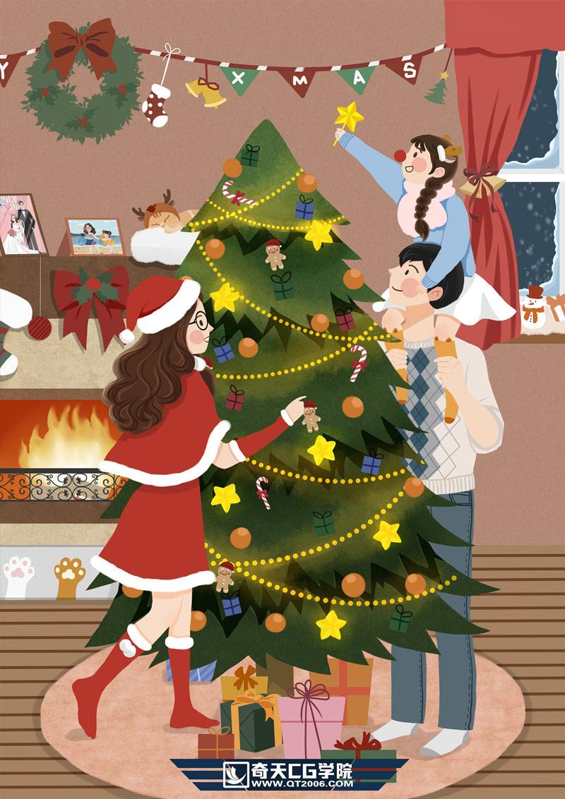 奇天CG学院,视觉亚博在线娱乐,圣诞节