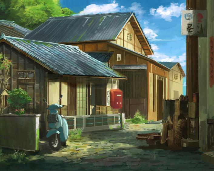 奇天CG学院,动漫场景,漫画木屋场景