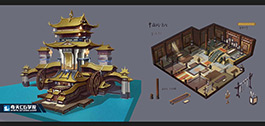 奇天CG学院,游戏场景,中国风建筑设定