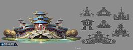 奇天CG学院,游戏场景,中国风建筑设定2