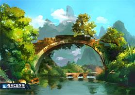 奇天CG学院,游戏场景,场景氛围图