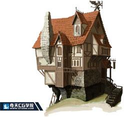 奇天CG学院,游戏场景,建筑设计