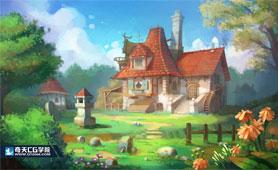 奇天CG学院,游戏场景,气氛图