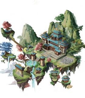 奇天CG学院,游戏场景,规划设计图