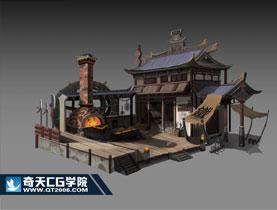 奇天CG学院,游戏场景,场景图设定-