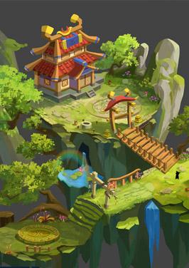 奇天CG学院,游戏场景,规划图设计-