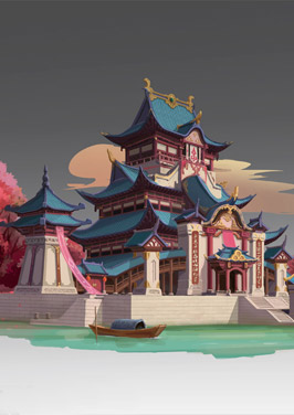 奇天CG学院,游戏场景,古建-