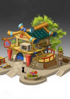 奇天CG学院,游戏场景,Q版单体设计