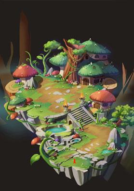 奇天CG学院,游戏场景,Q版建筑设定-