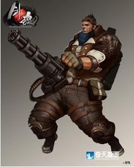 奇天CG学院,游戏角色,剑魂枪骑士