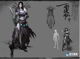 奇天CG学院,游戏角色,剑凌仙-女刺客