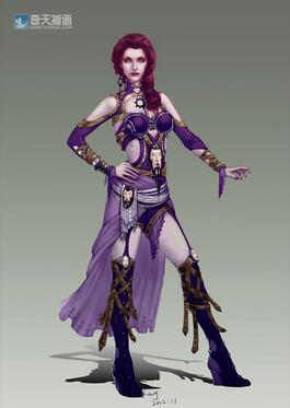奇天CG学院,游戏角色,角色设计女