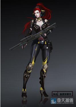 奇天CG学院,游戏角色,猎鹰突击手