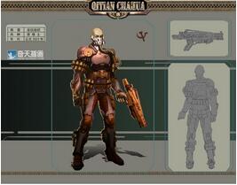 奇天CG学院,游戏角色,苦修士