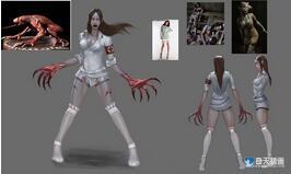奇天CG学院,游戏角色,绝望少女