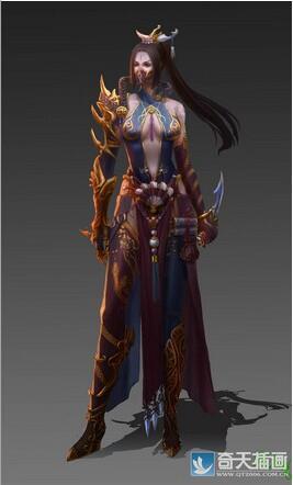 奇天CG学院,游戏角色,女刺客