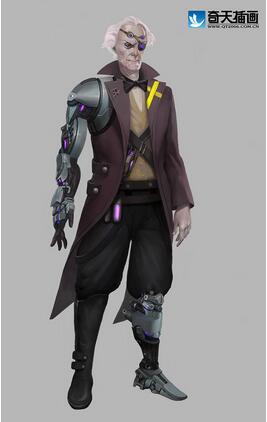 奇天CG学院,游戏角色,小龙人博士