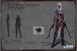 奇天CG学院,游戏角色,黑暗精灵-饮血者