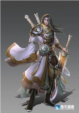 奇天CG学院,游戏角色,剑圣-作品