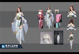奇天CG学院,游戏角色,NPC角色设计