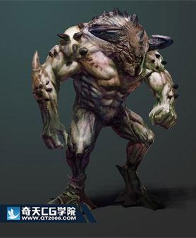 奇天CG学院,游戏角色,怪兽设计