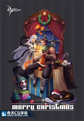 奇天CG学院,游戏角色,圣诞节